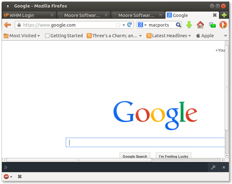 First screenshot of checking the SSL (HTTPS) certificate information for Google in Firefox web browser showing the lock icon