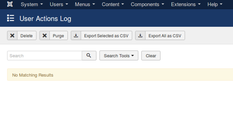 Joomla 3.9 implements a log of processing actions for each user&rsquo.s data.