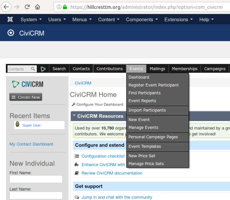 CiviCRM has numerous capabilities for administering event calendars and registrations.