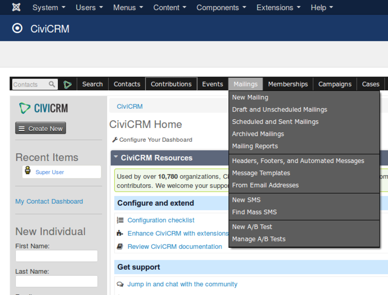 CiviCRM has numerous capabilities for managing mailings, both via email and postal mail.
