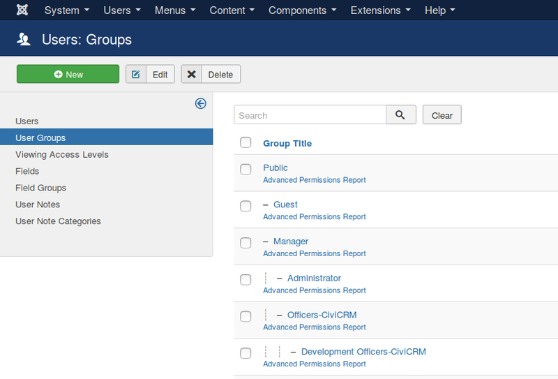 The Joomla permissions system gives you a convenient way to define a group of users with permissions to sensitive data.